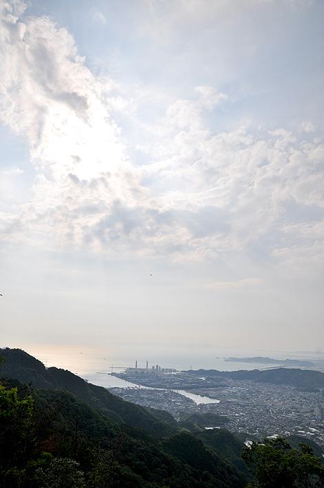 展望台から見る海南市